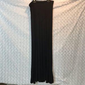 Studio M Womens Long Skirt Black Maxi Sz Medium